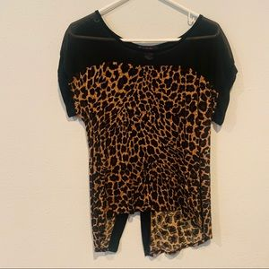 Annabelle Leopard Sheer Top Size L
